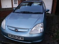 Honda Civic 5dr 1.4 petrol 106K miles manual 2001 Y reg. Great car.
