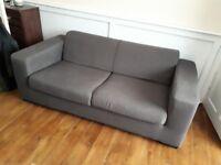 """Grey """"habitat"""" sofa"""