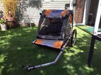 Double Child bike trailer