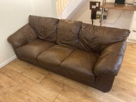 LEATHER SOFA - EVERYTHING MUST GO