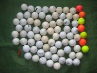 79 Golf Balls and One Tee - 40 Golf Balls for £10.00 or Everything for £17.00