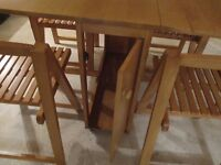 BUTTERFLY TABLE AS GOOD AS NEW HARDLY USED