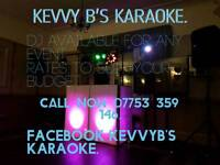 Kevvy B's Karaoke.Top mobile DJ covering North West.