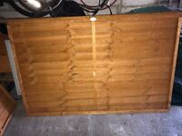 Brand new never used 6ft x 4ft fence panels