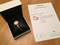 9ct Gold Rolex Ladies Watch with Offical Goldsmiths Valuation Letter