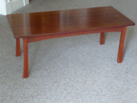 Solid wood hand crafted mahogany coffee table 90x40cm, 35cm high