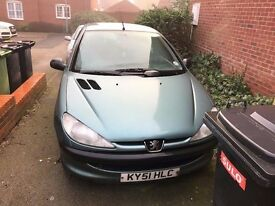 PEUGEOT 206 HDI 2.0 DIESEL WITH TOW BAR FITTED