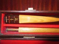 VINTAGE 1983 POWER GLIDE EXCALIBUR 2 PIECE SNOOKER CUE IN ASH
