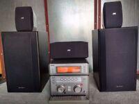 Powerful receiver Sony STR-NX3 2X100+3X35+2 Quality speakers Sony SS 125E + 3 surround speakers JVC