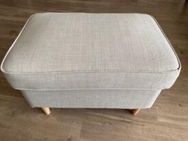 Ikea Strandmon footstool in light beige