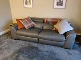 REDUCED. 2 seater furniture village, elixir, leather electric recliner