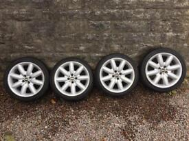 GENUINE BMW MINI COOPER S ALLOYS AND TYRES