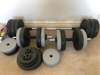 Gym weights (Dumbbells + Bar)