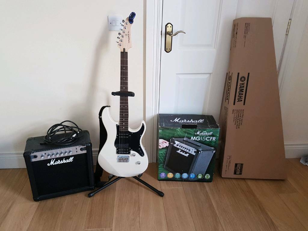 yamaha pacifica 120h electric guitar marshall 15w amplifier package sold in lisbellaw. Black Bedroom Furniture Sets. Home Design Ideas