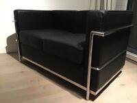 Le Corbusier LC2 Reproduction Sofa - Italian Leather