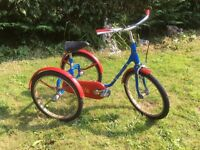 1981 MODEL PASHLEY PICKLE TRICYCLE 3 WHEEL KIDS BIKE