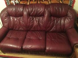 3seater and 2x 1seater leather Sofa