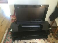 TV with TV Glass Stand