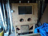 Large Homemade Shot Blasting Cabinet, made for motorcycle frames