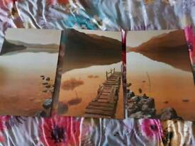 3 landscape picture set