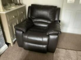 Lovely Dark Brown Comfortable Recliner Chair.