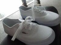 brand new boys white vans. size 13