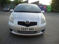 TOYOTA YARIS 2007 T3 S-A AUTOTOMATIC 5 DOOR HATCH BACK SILVER 1296 CC