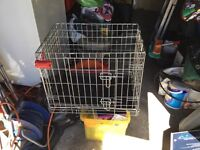 Metal dogs cage