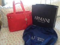 Brand new coral Armani handbag