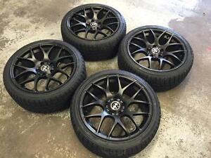 "18"" BMW Matt Black Wheels 5x120 & Winter Tires 225/40R18 (BMW Cars) Calgary Alberta Preview"