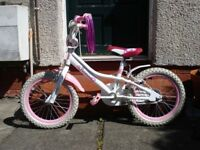 "girls jasmine bicycle with 16"" wheels"