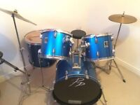 RACK TOMS , 12 AND 13 INCH METALIC BLUE