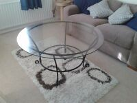 Round Glass Coffee Table -DELIVERY AVAILABLE