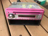 Pink car cd radio