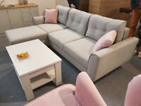 OSLO New Brand Corner Sofa Bed >> Swarovski >> Storage >> Sleeping function >> Grey >> Delivery
