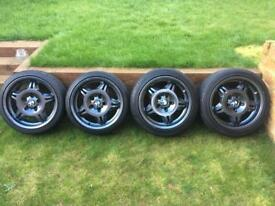 "Genuine set of BMW E36 M3 17"" Style 24 LTW (lightweight) alloy wheels."