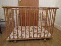 Wooden play pen ideal for small-ish homes