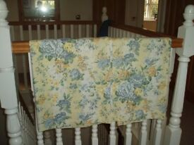 PRETTY BLUE AND YELLOW FLOWERED CURTAINS