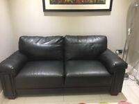 2 seater large leather sofa