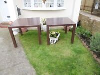 Two Large Garden Tables