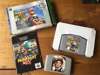 N64 Mario Kart (boxed) and Golden Eye Cartridge