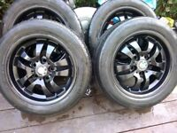 BMW genuine set of four alloys alloy wheels and tyres