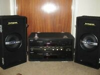 A PRO series Combi (portogram); two cd players, variable speed; clip-on speakers; remote