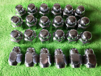 24x Alloy Wheel Closed Chrome acorn Style Nuts M12 x 1.5 21mm Head 60d tapered Seat for sale  Leicester, Leicestershire