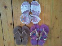 flip flops, summer sandals, havaianas, crocs style - lots colours, sizes