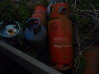 11 empty gas bottles free