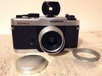 Voigtlander Bessa L (35mm film camera) + Skopar 25mm wide angle lens + Viewfinder + Leica M adapter