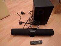 Denver DSB-100 2.1 Surround System Home Cinema Sound Bar