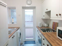Rent inc. council tax. Large 2 dble bed ground floor flat in quiet purpose built block of 6