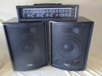 Nevada PA-200 PA System, Amplifier & Speakers, used but in good working order P A System